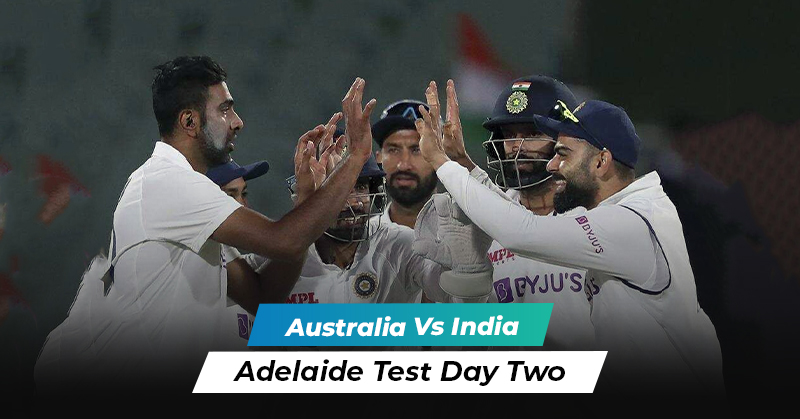 Australia vs India: Adelaide Test Day Two Overview