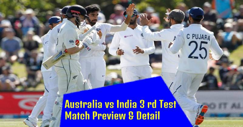 Australia vs India 3rd Test Match Preview