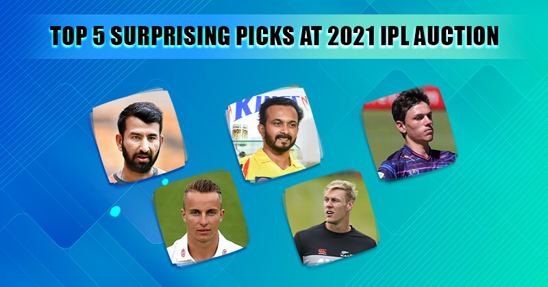 IPL 2021 Auction- Top 5 surprising picks