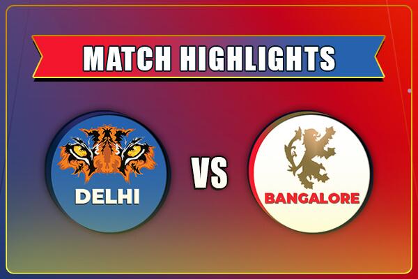 RCB vs DC Match Highlights IPL 2021