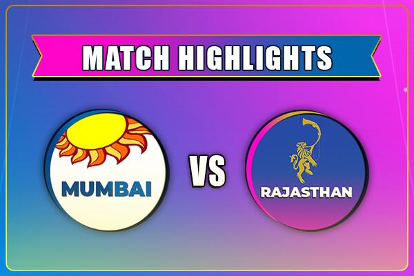 MI vs RR Match Highlights IPL 2021