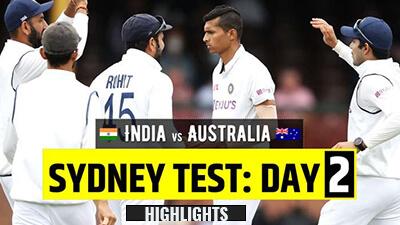 Australia vs India 3rd Test Day 2 highlights SCG
