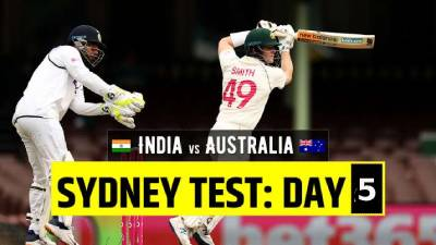 Australia vs India 3rd Test Day 5 highlights in SCG