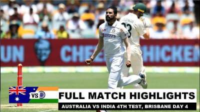 Australia vs India 4th Test Day 4 highlights