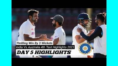 India wins - Australia vs India  4th Test Day 5 highlights