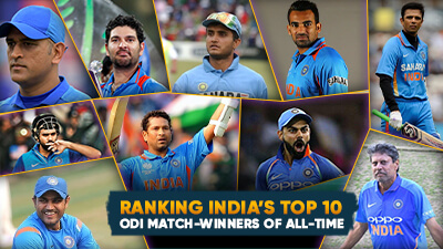 Ranking India's Top 10 ODI match-winners of all-time