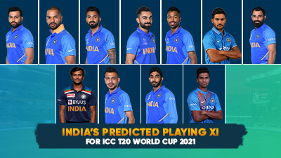 India's predicted playing XI for ICC T20 World Cup 2021