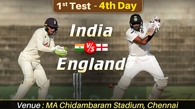 India vs England Chennai test day 4 highlights