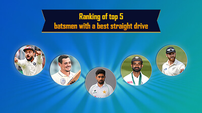 Ranking of Top 5 Batsmen with a Best Straight Drive