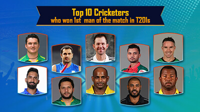 Top 10 Cricketers who won 1st man of the match in T20Is