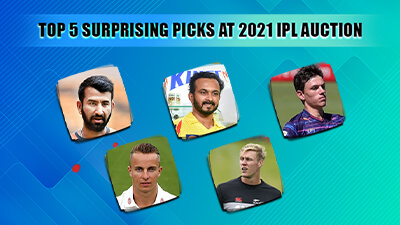 IPL 2021 Auction- Top 5 surprising picks