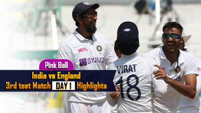 India Vs England 3rd Test  Day 1 Highlights