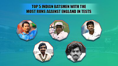 Top 5 Indian batsmen with the most runs against England in Tests