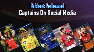 Top 5 Most Followed IPL Captains on Social Media
