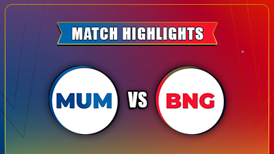 RCB vs MI Match - 1 Highlights