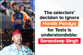 The selectors' decision to ignore Hardik Pandya for Tests is understandable: Sarandeep Singh