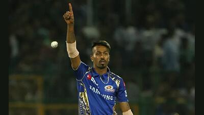 Hardik was not bowled against MI as a precautionary measure
