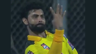 Jadeja celebrates in style after taking four catches