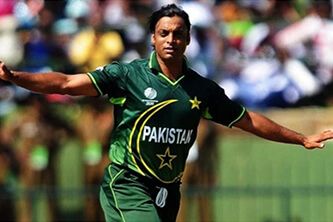 On this Shoaib Akhtar became the first bowler to clock 100 miles per hour