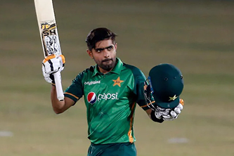 Pakistan captain Babar Azam prays for the recovery of Covid-19 affected people in India
