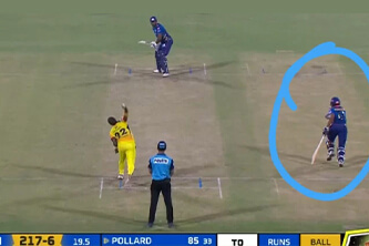 Brad Hogg raises the 'spirit of the game' question after MI's non-striker takes advantage of the last ball against CSK