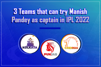 3 Teams that can try Manish Pandey as captain in IPL 2022