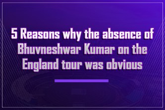 5 Reasons why the absence of Bhuvneshwar Kumar on the England tour was obvious