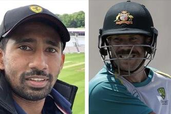Saha reaches England, shares 'views from balcony'; Warner gives cheeky response