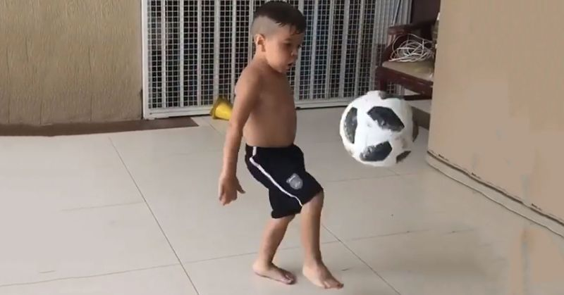 Harbhajan Singh shares video of a young boy doing kick-ups