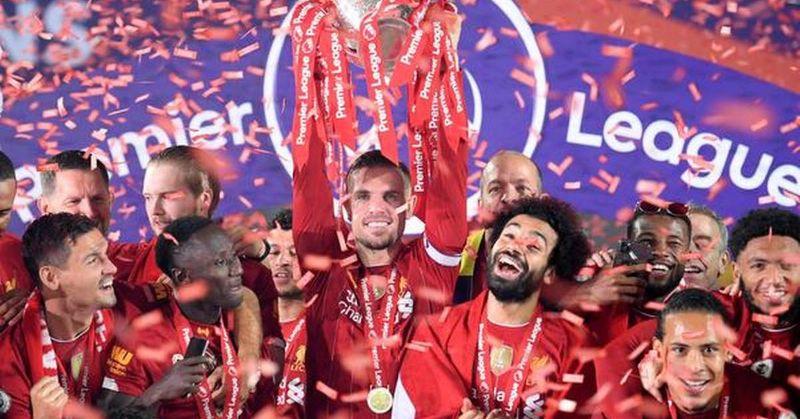 Liverpool lift the premiere league trophy